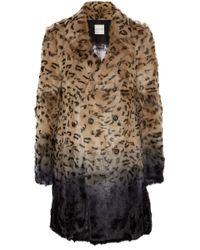 Each x Other Leopardprint Ombré Goat Hair Coat - Lyst