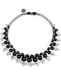 "Ellen Conde - Black Graduated Collar Necklace, 15"" - Lyst"