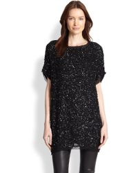 Armani Embroidered Tunic Blouse - Lyst