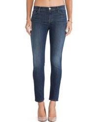 J Brand Mid Rise Skinny Jean - Lyst
