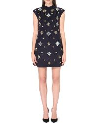 Tory Burch Carlan Sleeveless Embellished Dress - Lyst