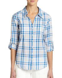 Joie Cartel Picnic Plaid Shirt - Lyst