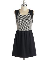Monteau Inc Checkered and True Dress - Black