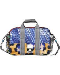 KENZO Logo Appliqués On Nylon Duffle Bag - Multicolor
