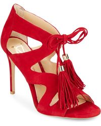 Vince Camuto Signature - Manders Suede Lace-up Court Shoes - Lyst
