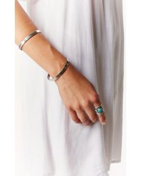 Vanessa Mooney The Riot Double Cuff Silver Bracelet - Lyst