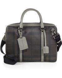 Burberry Smoke Check Briefcase - Lyst