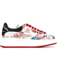 Alexander McQueen Extended Sole Sneakers - White