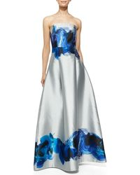 Sachin & Babi Astor Strapless Brushstroke Swirl Gown - Lyst