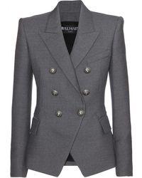 Balmain Structured Wool Blazer - Lyst