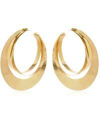 Herve Van Der Straeten Rebbon Hoop Earrings - Metallic
