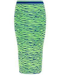 House Of Holland Zebra-Intarsia Knit Pencil Skirt - Lyst