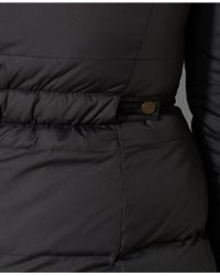 Lauren by Ralph Lauren Plus Size Faux Fur Trim Down Puffer Coat - Black