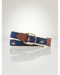 Ralph Lauren Flag Rope Belt - Lyst