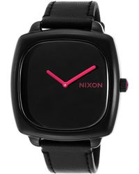 Nixon Womens Shutter Ss Black Genuine Leather Strap and Dial - Lyst