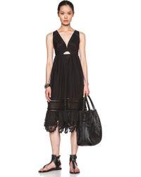 Thakoon Addition Crochet Inset Dress - Lyst