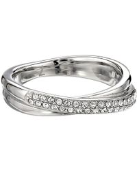 Michael Kors Pave Crossover Ring - Lyst
