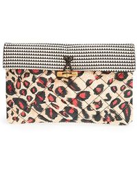 Maison Scotch Quilted Clutch - Lyst
