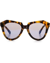 Karen Walker Superstars Collection Number One Mirrored Sunglasses - Crazy Tort/Blue Revo - Lyst