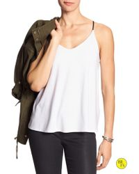 Banana Republic Factory Strappy Halter Top white - Lyst