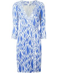 Diane von Furstenberg Julian Silk Wrap Dress - Lyst