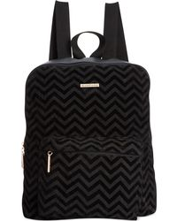 Rampage - Chevron Printed Suede Backpack - Lyst