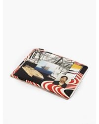 Raf Simons Men'S Printed Leather Document Wallet multicolor - Lyst