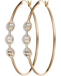 Hoorsenbuhs - Diamond Tri-Link Hoops - Lyst