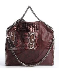 Stella McCartney Bright Purple Falabella Quilted Shaggy Deer Tiny Tote - Lyst