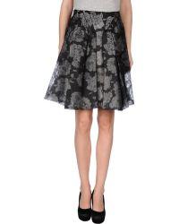 Zac Posen Knee Length Skirt black - Lyst