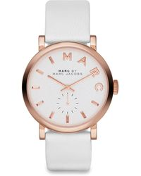 Marc By Marc Jacobs Baker Rose Goldtone Stainless Steel & Leather Strap Watch - Lyst