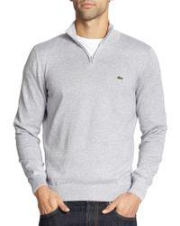Lacoste Half-Zip Pullover Sweater - Lyst