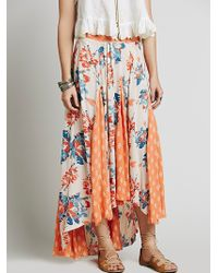 Free People Show You Off Maxi Skirt multicolor - Lyst
