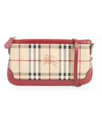 Burberry Military Red Nova Check Small Clutch Purse - Lyst
