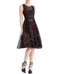 Rachel Roy Grid Lace Dress - Lyst