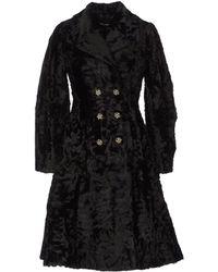 Dolce & Gabbana Cutoutlace Car Coat - Black