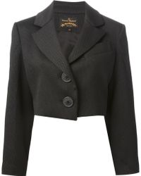 Vivienne Westwood Anglomania Notched Lapels Cropped Jacket - Lyst