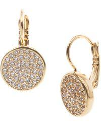 Anne Klein Goldtone And Crystal Drop Earrings - Metallic