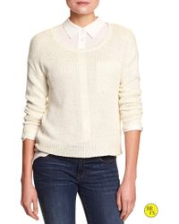 Banana Republic Factory Sequin Sweater - Lyst