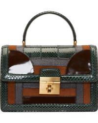Dolce & Gabbana Green Ayers Patchwork Leather Rosalia Bag - Lyst