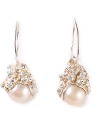 Ruth Tomlinson Pearl Drop Earrings - Lyst