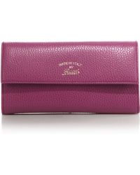 Gucci Swing Leather Continental Wallet - Pink
