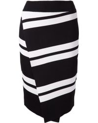 A.L.C. Striped Crossover Skirt - Lyst