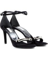 Balenciaga Maillon Suede Sandals - Lyst