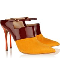 Nicholas Kirkwood Suede and Patent Leather Mules - Lyst