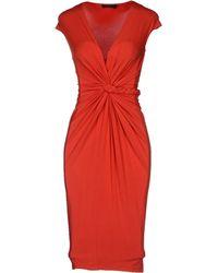 Donna Karan New York Short Sleeve Jersey Knee Length Dress - Lyst