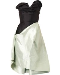 Vivienne Westwood Gold Label Trinket Corset Dress green - Lyst