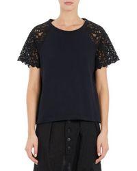 Yohji Yamamoto Lace-sleeve Shirt - Lyst