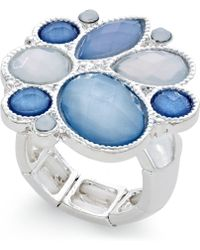 Style & Co. - Silver-tone Ice Blue Stone Ring - Lyst