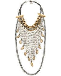 Laura Cantu - Layered Chains Necklace - Lyst